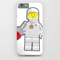 Vintage Lego White Spaceman Minifig iPhone 6 Slim Case