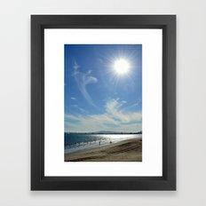 Sunny Beach Day Framed Art Print