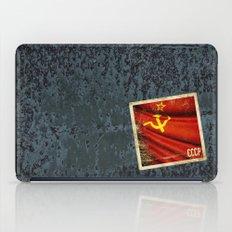 Sticker of Soviet Union (1922-1991) flag iPad Case