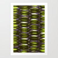 Painted and digital khaki pattern Art Print