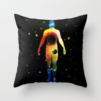 The Universe Is In Us Throw Pillow
