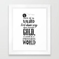 Tolkien Quote Framed Art Print