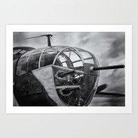 B-25 Nose Guns Art Print