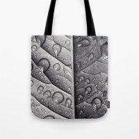 Silver Leaf Tote Bag