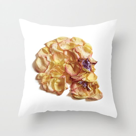 60. Flower Skull Throw Pillow