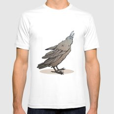Crowing Crow SMALL White Mens Fitted Tee