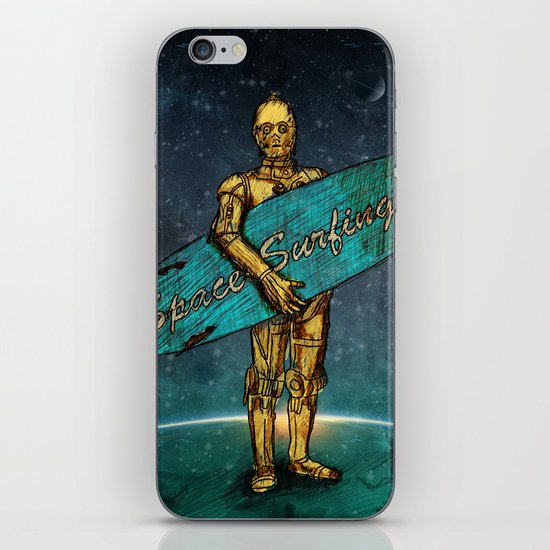 Space Surfer iPhone & iPod Skin