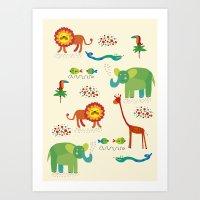 animals1 Art Print