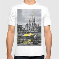 DISNEY Mens Fitted Tee White SMALL