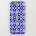 Lacey Pattern, White/Blue iPhone & iPod Case