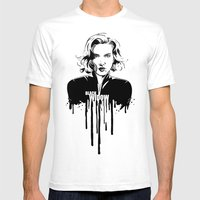 Avengers in Ink: Black Widow Mens Fitted Tee White SMALL