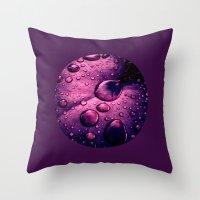 Water Drops XIIX Throw Pillow