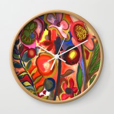 Floral Parade Wall Clock