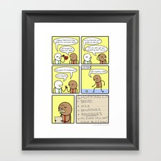 Antics #149 - hurts so good Framed Art Print