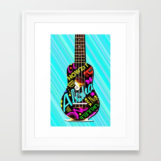 Hawaiian Ukulele for IPhone Framed Art Print