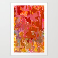 Peach Pink and Orange Art Print