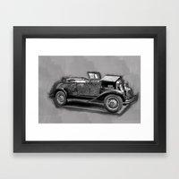 Vintage Car, Black And W… Framed Art Print