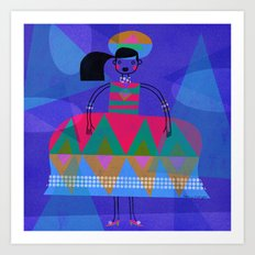 TRIANGLE DRESS Art Print