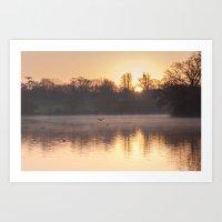 Misty Morning On The Lak… Art Print