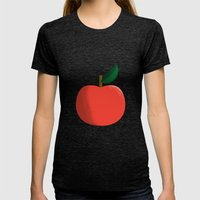 Apple 01 Womens Fitted Tee Tri-Black SMALL