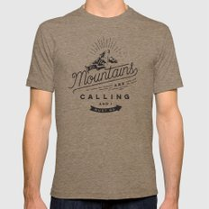 Mountains Mens Fitted Tee Tri-Coffee SMALL
