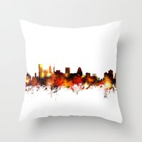 Baltimore Maryland Skyli… Throw Pillow