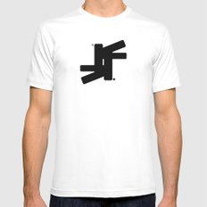 TSF Logo Mens Fitted Tee SMALL White