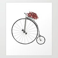Christmas Bicycle Art Print