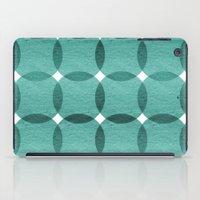 Overlapped Circle Pattern 6 iPad Case