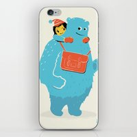 Blue-Monster Piggy-Ride iPhone & iPod Skin