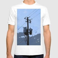 Transformer SMALL White Mens Fitted Tee
