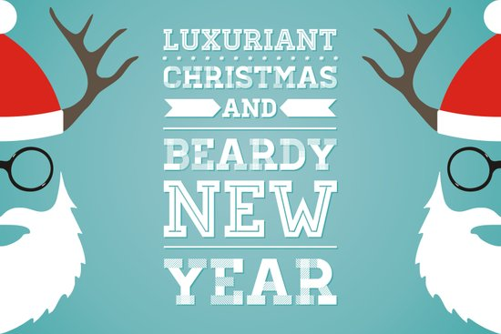 Luxuriant Christmas and Beardy New Year Art Print