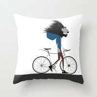 Hipster Lion And His Bic… Throw Pillow