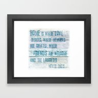 Home Of Love And Laughte… Framed Art Print