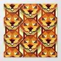 The Bold Wolf pattern Canvas Print