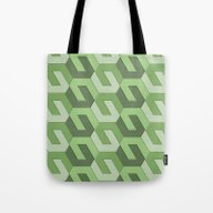 Tote Bag featuring Geometrix LXII by Harvey Warwick