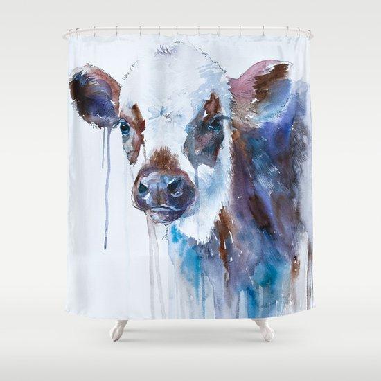 Cow Shower Curtain By Slaveika Aladjova Society6