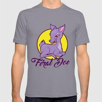 My Feral Doe Logo Mens Fitted Tee Slate SMALL