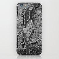 Paris map iPhone & iPod Case
