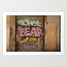 Who's Afraid of the Big Pink Bear Art Print
