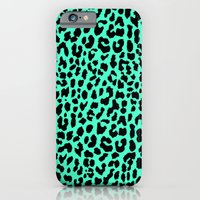 Neon Mint Leopard iPhone 6 Slim Case
