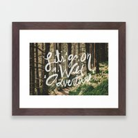 Let's Go on a Wild Adventure Framed Art Print