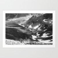 Mountain Cloud Cover Art Print