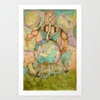 Vulnerable God II-Gravity Art Print