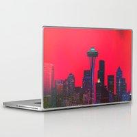 seattle Laptop & iPad Skins featuring Seattle. by Daniel Montero