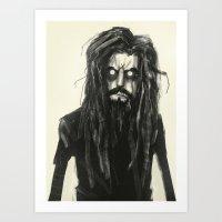 Rob Zombie Art Print