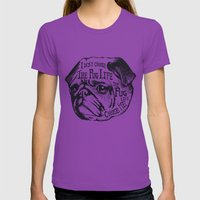 Pug Life Womens Fitted Tee Ultraviolet SMALL