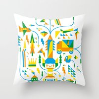 Shape-A-Licious Throw Pillow