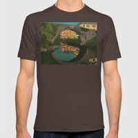 The River Mens Fitted Tee Brown SMALL