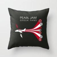 PJ Greek Fans On Tour Throw Pillow